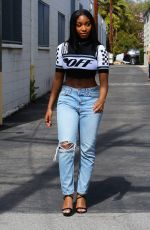 NORMANI KORDEI Leaves a Recording Studio in Los Angeles 04/08/2018