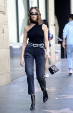 OLIVIA CULPO Out on Hollywood Walk of Fame in Los Angels 04/22/2018