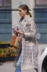 OLIVIA PALERMO Out and About in New York 04/14/2018