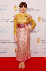 OPHELIA LOVIBOND at Bafta TV Craft Awards in London 04/22/2018