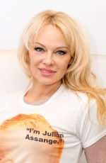 PAMELA ANDERSON at Good Morning Britain in London 04/17/2018