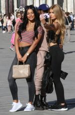 PAMELA REIF and IVANA SANTACRUZ on the Set of Puma Commercial in Venice 04/18/2018