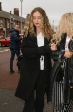 PERRIE EDWARDS Arrives at Anfield in Liverpool 04/04/2018