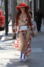 PHOEBE PRICE Out and About in Beverly Hills 04/27/2018