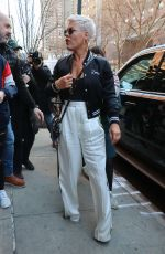PINK Leaves Her Hotel in New York 04/06/2018