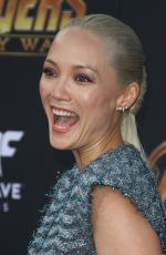 POM KLEMENTIEFF at Avengers: Infinity War Premiere in Los Angeles 04/23/2018