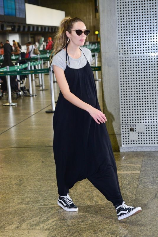 Pregnant CANDICE SWANEPOEL at Airport in Sao Paulo 03/31/2018