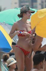 Pregnant CANDICE SWANEPOEL in Bikini on the Beach in Mexico 04/01/2018