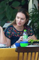 Pregnant CANDICE SWANEPOEL Out for Lunch in Espirito Santo 04/23/2018