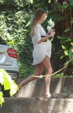 Pregnant CANDICE SWANEPOEL Out in Vitoria 04/22/2018