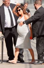 Pregnant EVA LONGORIA at Jimmy Kimmel Live! in Hollywood 04/10/2018