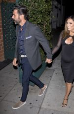 Pregnant EVA LONGORIA at Mr. Chow Restaurant in Beverly Hills 04/14/2018