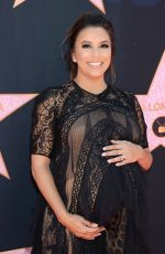 Pregnant EVA LONGORIA Honoured with Star at Hollywood Walk of Fame in Los Angeles 04/16/2018