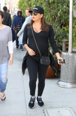 Pregnant EVA LONGORIA Out for Lunch in Beverly Hills 04/24/2018
