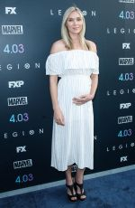 Pregnant JELLY HOWE at Legion Season 2 Premiere in Los Angeles 04/02/2018