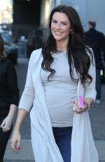 Pregnant JESSICA CUNNIGHAM Leaves ITV Studios in London 04/05/2018