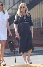 Pregnant KIRSTEN DUNST Arrives at Sunday Church Service on Easter in Los Angeles 04/01/2018