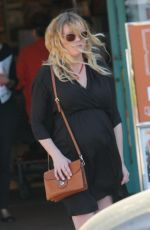 Pregnant KIRSTEN DUNST Out in Los Angeles 04/20/2018