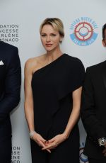PRINCESS CHARLENE at 2nd Gala of Riviera Water Bike Challenge at Yacht Club in Monaco 04/14/2018