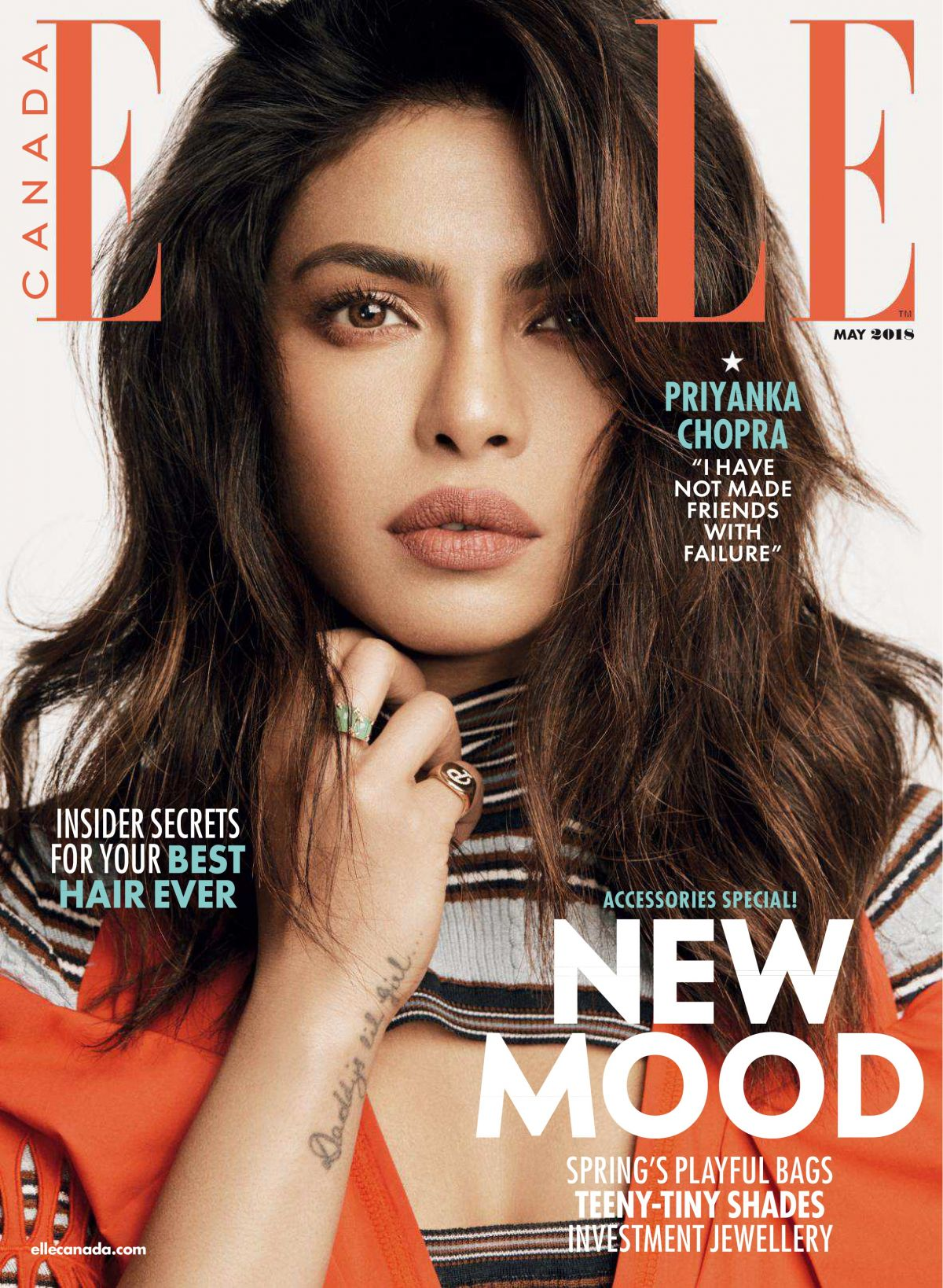 Elle Magazine France February March: PRIYANKA CHOPRA In Elle Magazine, Canada May 2018