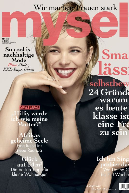 RACHEL MCADAMS on the Cover of Myself Magazine, May 2018