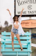 RACHEL MCCORD in Daisy Duke at a Beach in Malibu 04/07/2018
