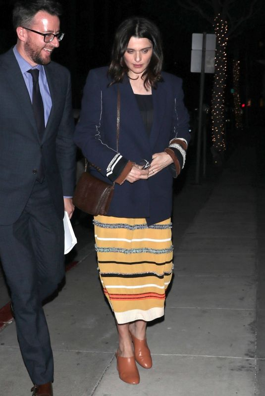 RACHEL WEISZ at Mr. Chow in Los Angeles 04/18/2018