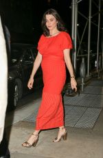 RACHEL WEISZ in a Red Dress Out in New York 04/23/2018