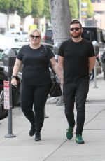 REBEL WILSON Out for Lunch at Urth Caffe in Beverly Hills 03/31/2018