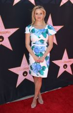 REESE WITHERSPOON at Eva Longoria Hollywood Walk of Fame Ceremony in Los Angeles 04/16/2018
