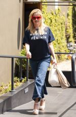 REESE WITHERSPOON Leaves R+D Restaurant in Santa Monica 04/23/2018