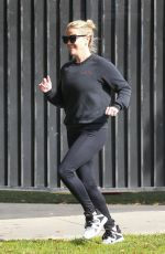 REESE WITHERSPOON Out Jogging in Brentwood 04/20/2018