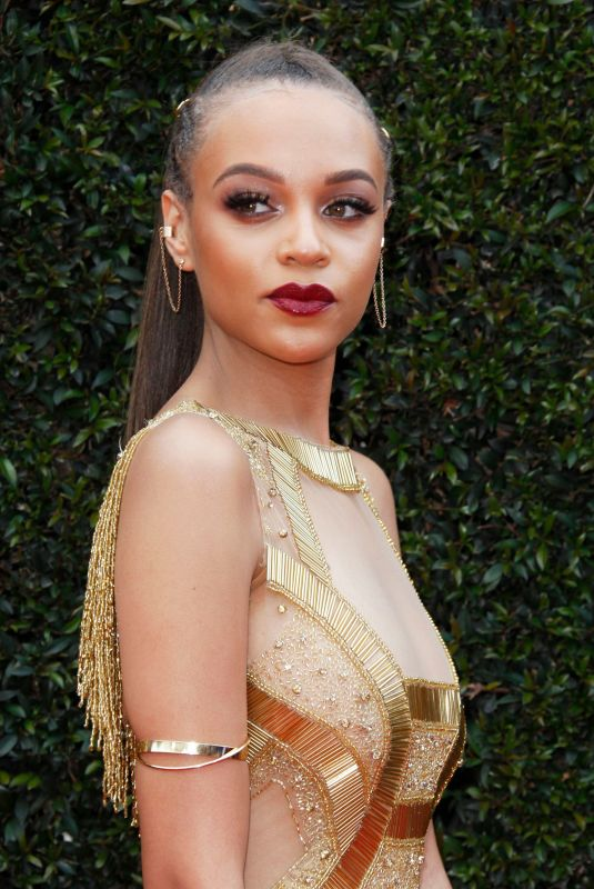 REIGN EDWARDS at Daytime Emmy Awards 2018 in Los Angeles 04/29/2018