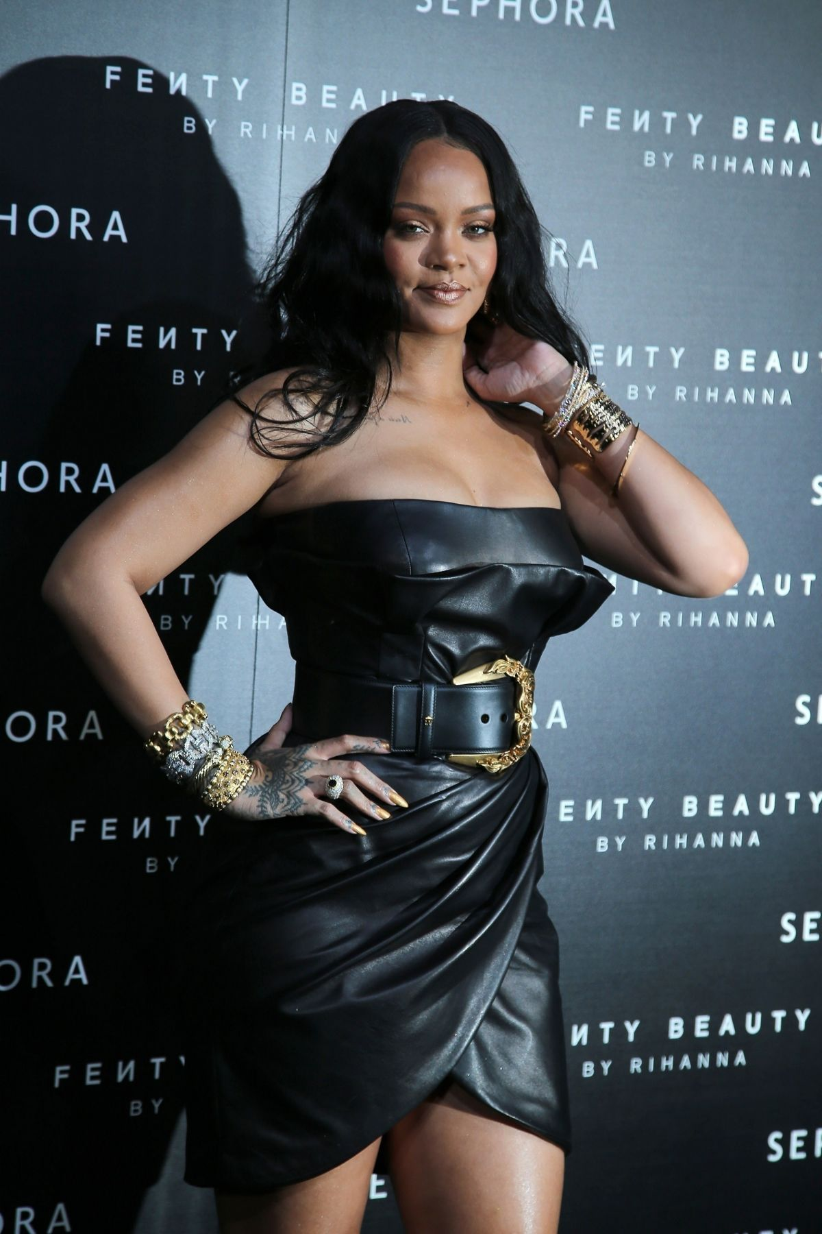 RIHANNA at Fenty by Rihanna Makeup Launch in Milan 04/05 ...