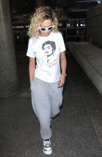 RITA ORA at LAX Airport in Los Angeles 04/13/2018