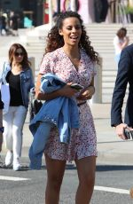ROCHELLE HUMES Arrives at ITV Studios in London 04/19/2018