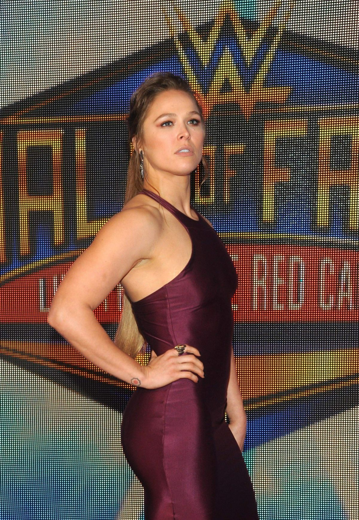 Ronda Rousey At Wwe 2018 Hall Of Fame Induction Ceremony