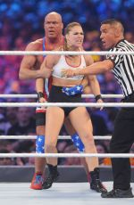 RONDA RUSEY at WWE Wrestlemania 34 at Mercedes-benz Superdome in New Orleans 04/08/2018