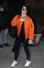 ROSE MCGOVAN Leaves Her Hotel in New York 04/09/2018