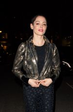 ROSE MCGOWAN Leaves Ash from Chaos Private View at Lazinc Gallery in New York 04/19/2018