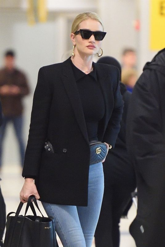 ROSIE HUNTINGTON-WHITELEY at JFK Airport in New York 04/03/2018