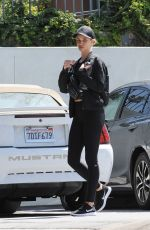 ROSIE HUNTINGTON-WHITELEY Leaves a Gym in West Hollywood 04/26/2018