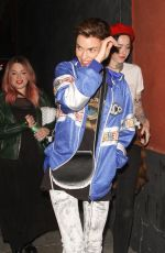 RUBY ROSE Leaves Cafe Hotel in Hollywood 04/23/2018
