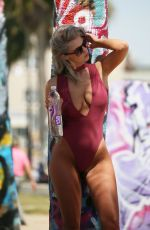 SAMANTHA KNEZEL in Swimsuit for 138 Water Photoshoot in Venice Beach 04/11/2018
