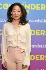 SANDRA OH at Contenders Emmys Presented by Deadline Hollywood, Green Room in Los Angeles 04/15/2018