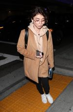 SARAH HYLAND at LAX Airport in Los Angeles 04/24/2018