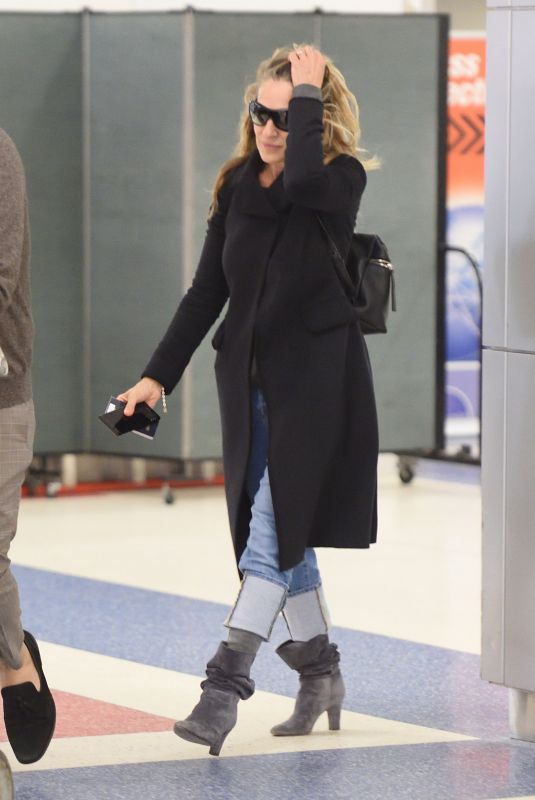 SARAH JESSICA PARKER at JFK Airport in New York 04/15/2018
