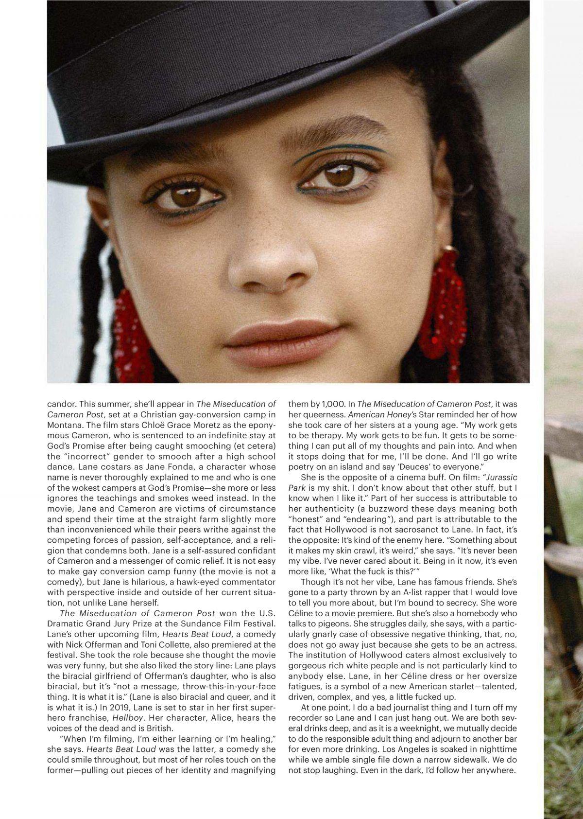 SASHA LANE in Allure Magazine, May 2018 Issue - HawtCelebs