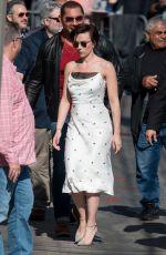 SCARLETT JOHANSSON Arrives at Jimmy Kimmel Live in Los Angeles 04/24/2018