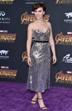 SCARLETT JOHANSSON at Avengers: Infinity War Premiere in Los Angeles 04/23/2018